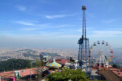 Tibidabo Amusement Park in Barcelona, Spain Stock Images