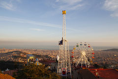 Tibidabo amusement park, Barcelona Stock Images