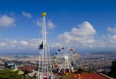 Tibidabo Amusement Park Stock Photo