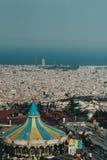 Tibidabo amusement park wheel Barcelona Stock Photography