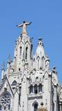 Tibidabo-Bergkirche Stockfotos