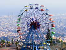 Tibidabo big wheel Stock Photos