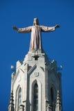 tibidabo christ jesus стоковые фотографии rf