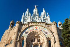 Tibidabo church in Barcelona, Spain. Stock Photo