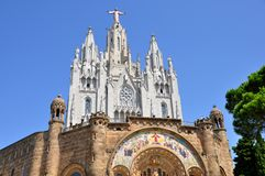 Tibidabo church in Barcelona, Spain. Stock Photo