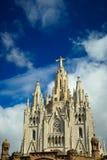 Tibidabo church on mountain in Barcelona Stock Photos