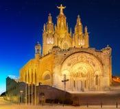 Tibidabo church on mountain in Barcelona Royalty Free Stock Photos