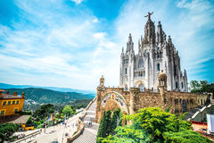 Tibidabo church Royalty Free Stock Photos