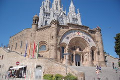 Tibidabo church, sagrado corazon Royalty Free Stock Images