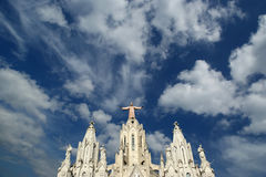 Tibidabo church/temple, Barcelona Royalty Free Stock Images