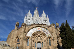 Tibidabo church/temple, Barcelona, Spain Royalty Free Stock Photo