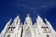 Tibidabo church/temple, Barcelona, Spain Stock Images