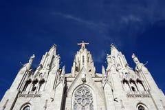 Tibidabo church/temple, Barcelona, Spain Stock Images