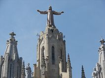 Tibidabo di Barcellona immagini stock libere da diritti