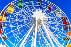 Tibidabo Ferris Wheel in Barcelona stockbild
