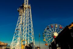 Tibidabo Ferris Wheel in Barcelona royalty free stock photos