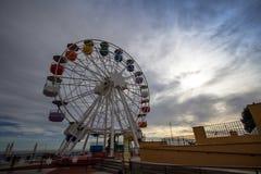 The Tibidabo Ferris Wheel Tibidabo Hill in Barcelona, Spain. stock images