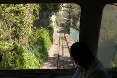 Tibidabo Finicular järnväg Royaltyfri Fotografi