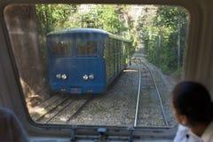 Tibidabo Finicular järnväg Royaltyfria Bilder