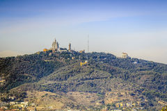 Tibidabo hill in Barcelona, Spain Royalty Free Stock Photos