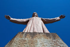Tibidabo Jesus statue Stock Images
