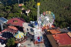Tibidabo nöjesfält i Barcelona Royaltyfri Bild