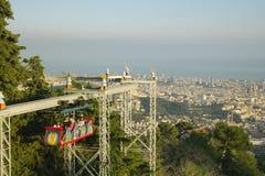 Tibidabo nöjesfält, Barcelona Royaltyfri Fotografi