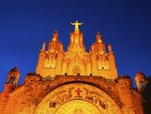 Tibidabo tempel i Barcelona Royaltyfria Foton