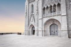Tibidabo temple, Barcelona. Church of the Sacred Heart at the top of Tibidabo Mountain. Spain stock photos