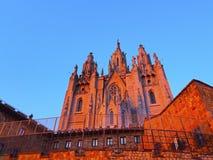 Tibidabo Temple in Barcelona Stock Photo