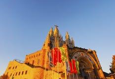 Tibidabo Temple in Barcelona Stock Image