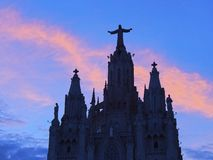 Tibidabo Temple in Barcelona Stock Images