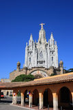 Tibidabo temple (Barcelona, Spain). The Expiatory Temple of the Sacred Heart in Barcelona (Spain Stock Images