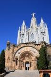 Tibidabo temple (Barcelona, Spain) Stock Image