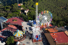 Tibidabo-Vergnügungspark in Barcelona Lizenzfreies Stockbild