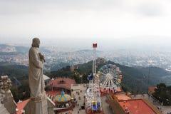 Tibidabo wzgórze, Barcelona Zdjęcia Royalty Free