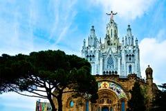 tibidabu katedralny halny wierzchołek Zdjęcie Royalty Free