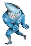 Tiburón como bandido estupendo ilustración del vector