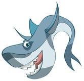 Tiburón de la historieta, ejemplo del vector ilustración del vector