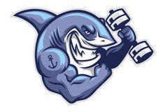 Tiburón del músculo stock de ilustración