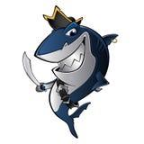 Tiburón del pirata ilustración del vector