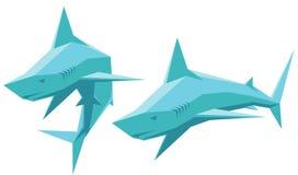 Tiburón del vector Fotos de archivo libres de regalías