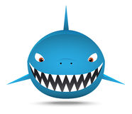 Tiburón gordo sonriente, historieta Imagen de archivo libre de regalías