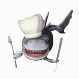 Tiburón hambriento stock de ilustración