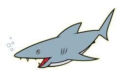 Tiburón - personaje de dibujos animados Fotografía de archivo libre de regalías