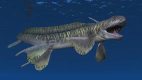 Tiburón prehistórico Orthacanthus libre illustration