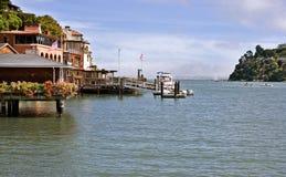 Tiburon, bord de mer de la Californie Image libre de droits