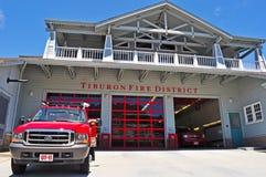 Tiburon, California, United States of America, Usa. The Station 11 of Tiburon Fire District on June 17, 2010. The Station 11 of Tiburon Fire District is the main Royalty Free Stock Photos
