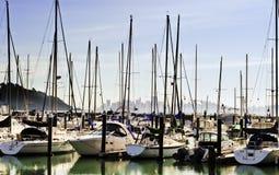 Tiburon kleines Boots-Hafen Stockfoto