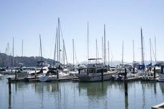 Tiburon Marina. Tiburon, CA, USA - March 7, 2015: Boats docked at the Tiburon Marina Royalty Free Stock Photography